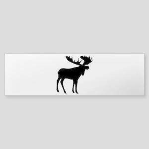 Black Moose Sticker (Bumper)