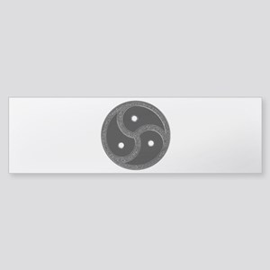 BDSM Emblem - Chrome Look Sticker (Bumper)