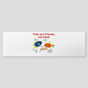 Fish are friends Sticker (Bumper)