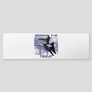 F-14 Tomcat v MiG21 Sticker (Bumper)