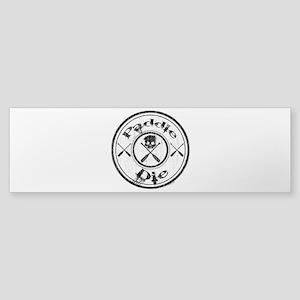 Paddle Oar Die (circle) Sticker (Bumper)