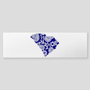 Blue Paisley Sticker (Bumper)