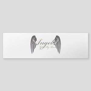 Angels Got My Back Bumper Sticker