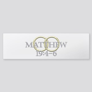 Matthew 19:4-6 Sticker (Bumper)
