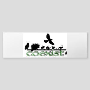 Wildlife Coexist Sticker (Bumper)