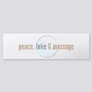 Peace, Love and Massage Bumper Sticker