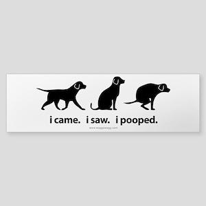 i Came. i Saw. i Pooped. Sticker (Bumper)