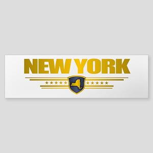 New York Gold Label Sticker (Bumper)