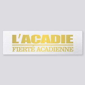 Acadian Flag Bumper Sticker
