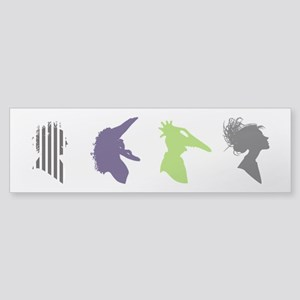 beetlejuice Silhouettes Bumper Sticker