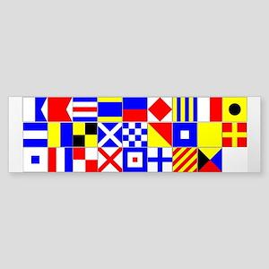 """1"""" Square Signal Flag U-Cut Stickers A-Z"""