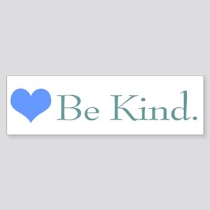 """Be Kind"" with a heart. Bumper Sticker"