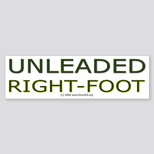 Unleaded Right Foot Bumper Sticker
