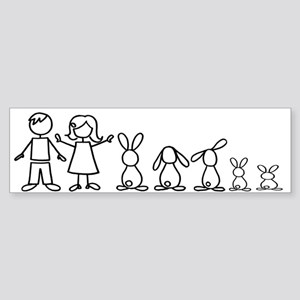 5 bunnies family Bumper Sticker