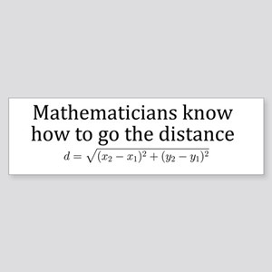 Mathematicians know how to go the distance Sticker