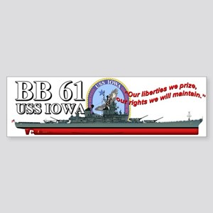 Uss Iowa Bb-61 Bumper Sticker