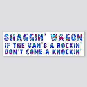 Shaggin' Wagon Circles Bumper Sticker