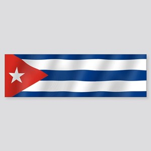 Pure Flag of Cuba Bumper Sticker