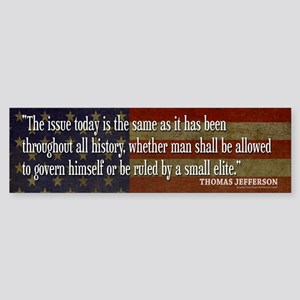 JEFFERSON: Ruled by ELITE Bumper Sticker