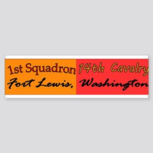 1st Squadron 14th Cavalry Sticker (Bumper)