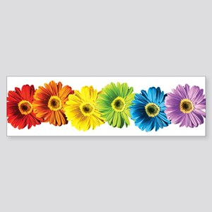 Rainbow Daisies Bumper Sticker