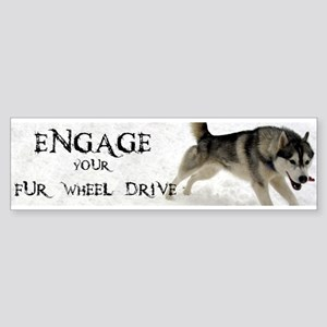 Engage Your Fur Wheel Drive Sticker (Bumper)