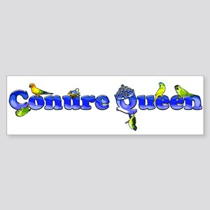 conure queen high rez Bumper Sticker