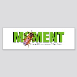 Bee in the Moment Bumper Sticker