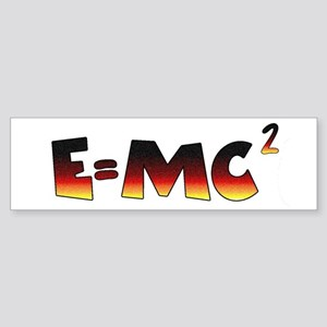 E=MC2 Relativity Sticker (Bumper)