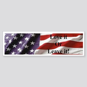 America! Love it or Leave it! Patriotic Sticker