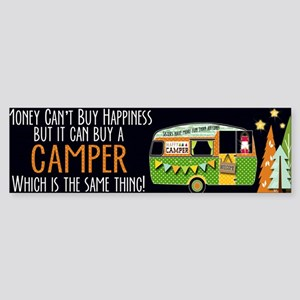 Camper Happiness Bumper Sticker