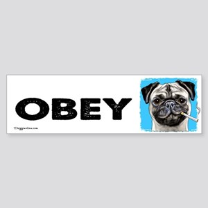 Obey Pug Sticker (Bumper)