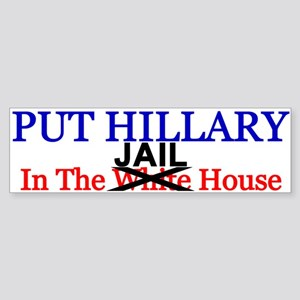 Hillary Jail House Bumper Sticker