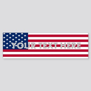 Customized Flag (bumper ) Bumper Sticker