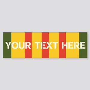 Personalize Vietnam Ribbon Bumper Sticker