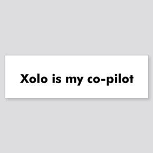 Xolo is my co-pilot Bumper Sticker