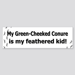 Green-Cheeked Conure Feathered Kid Bumper Sticker