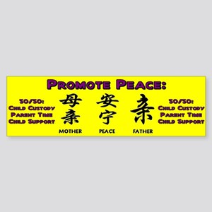Promote 50/50 Oriental Purple Bumper Sticker