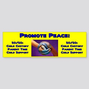 Promote 50/50 World Blue Bumper Sticker