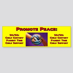 Promote 50/50 World Red Bumper Sticker