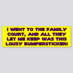 Lousy Court Purple Bumper Sticker