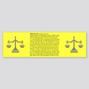 Custody Defined Black Bumper Sticker