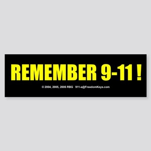 Remember 9-11 Bumper Sticker