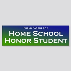 Home School Honor Student Bumper Sticker