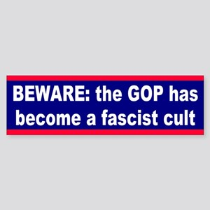 fascist cult... Bumper Sticker