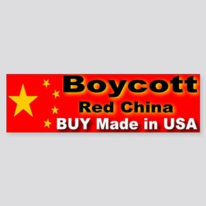 Boycott Red China Buy Made in Bumper Sticker