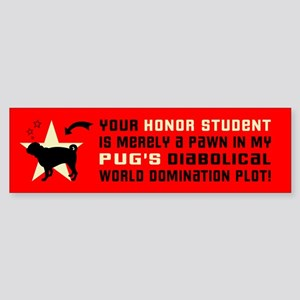 Pug World Domination -Dog Bumper Sticker