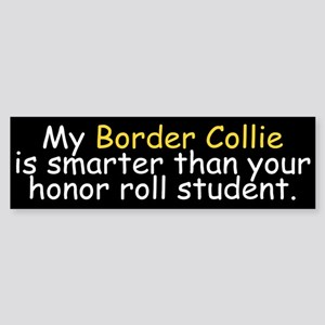 Honor Roll Border Collie Bumper Sticker