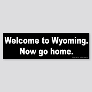 Welcome/Wyoming Sticker (Bumper)