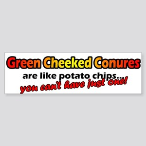 Potato Chips Green Cheeked Conure Bumper Sticker